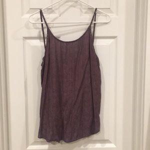Low back purple tank top